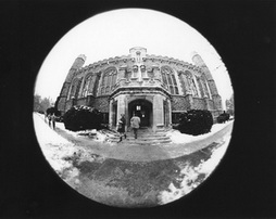 Fisheye View of Thomas Hall, ca. 1975